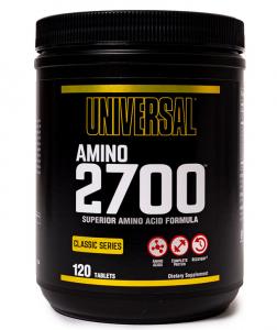 Universal Nutrition Amino 2700 Aminoskābju Maisījumi Aminoskābes