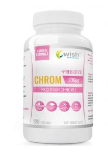 WISH Pharmaceutical Chromium Picolinate 200 mcg + Prebiotic
