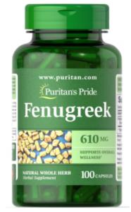 Puritan's Pride Fenugreek 610 mg