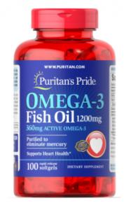 Puritan's Pride Omega-3 Fish Oil 1200 mg 360 mg Active Omega-3