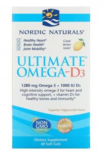 Nordic Naturals Ultimate Omega-D3 1000 mg Lemon