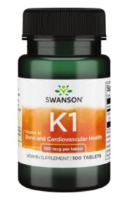 Swanson Vitamin K 1 100 mcg
