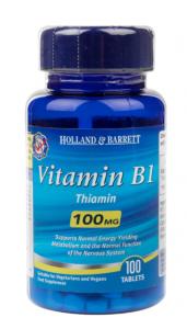 Holland & Barrett Vitamin B1 Thiamine 100  mg