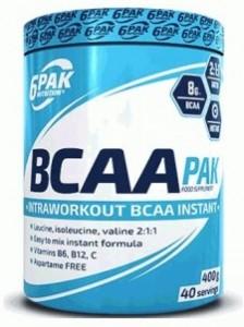 6Pak Nutrition BCAA Pak Aminoskābju Maisījumi Aminoskābes