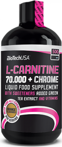 Biotech Usa L-Carnitine 70.000 + Chrome Л-Карнитин Контроль Веса