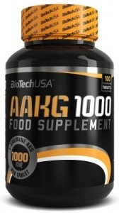 Biotech Usa AAKG 1000 Nitric Oxide Boosters L-Arginine Amino Acids Pre Workout & Energy