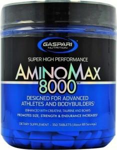 Gaspari Nutrition AminoMax 8000 BCAA Aminoskābju Maisījumi Aminoskābes Pēc Slodzes Un Reģenerācija