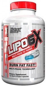 Nutrex Lipo-6X Tauku Dedzinātāji Svara Kontrole