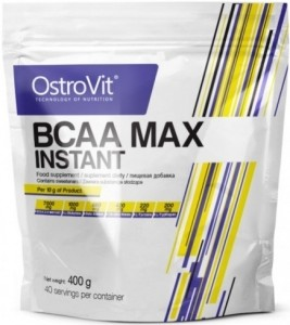 OstroVit BCAA Max Instant Aminoskābju Maisījumi L-Glutamīns L-Citrulīns Beta Alanīns Aminoskābes Pirms Treniņa Un Еnerģētiķi Pēc Slodzes Un Reģenerācija
