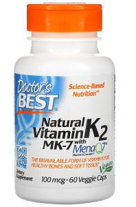Doctor's Best Natural Vitamin K2 MK-7 with MenaQ7 100 mcg