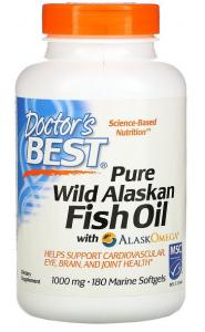 Doctor's Best Pure Wild Alaskan Fish Oil with AlaskOmega 1000 mg