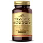 Solgar Vitamin D3 Cholecalciferol 25 mcg 1000 iu