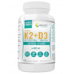 WISH Pharmaceutical Vitamin K2 MK-7 with Natto 100 µg + D3 2000 IU 50 µg + MCT Oil Weight Management