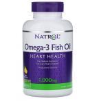 Natrol Omega-3 Fish Oil 1000 mg Lemon