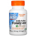 Doctor's Best Fully Active Folate 400 with Quatrefolic 400 mcg