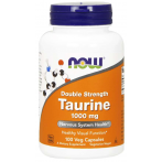 Now Foods Taurine 1000 mg L-Taurīns Aminoskābes