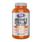 Now Foods Arginine & Citrulline 500 mg / 250 mg L-Arginīns L-Citrulīns Aminoskābes Pirms Treniņa Un Еnerģētiķi