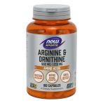 Now Foods Arginine & Ornithine 500 mg / 250 mg Nitric Oxide Boosters L-Arginine Amino Acids