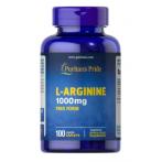 Puritan's Pride L-Arginine 1000 mg Slāpekļa Oksīda Pastiprinātāji L-Arginīns Aminoskābes Pirms Treniņa Un Еnerģētiķi