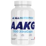 AllNutrition AAKG 1100 XtraCaps Slāpekļa Oksīda Pastiprinātāji L-Arginīns Aminoskābes Pirms Treniņa Un Еnerģētiķi