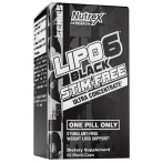 Nutrex Lipo-6X Black Stim-Free Fat Burners Weight Management