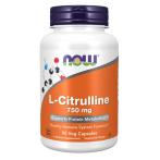 Now Foods L-Citrulline 750 mg Slāpekļa Oksīda Pastiprinātāji L-Citrulīns Aminoskābes Pirms Treniņa Un Еnerģētiķi