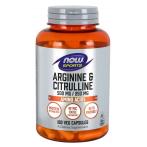 Now Foods Arginine & Citrulline 500 mg / 250 mg L-Arginine L-Citrulline Amino Acids